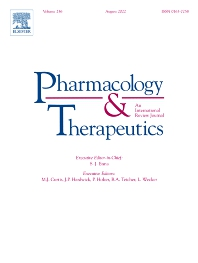 Cover image for Pharmacology & Therapeutics