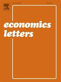 Economics Letters - ISSN 0165-1765