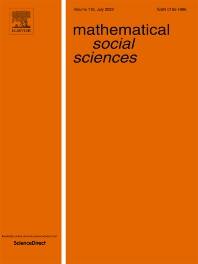 Cover image for Mathematical Social Sciences