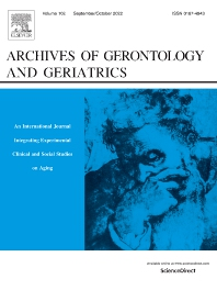 Cover image for Archives of Gerontology and Geriatrics