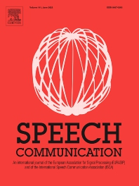 Cover image for Speech Communication