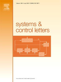 Cover image for Systems & Control Letters