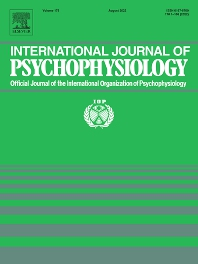 Cover image for International Journal of Psychophysiology