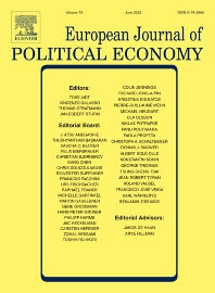 Cover image for European Journal of Political Economy