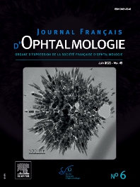 Cover image for Journal Français d'Ophtalmologie