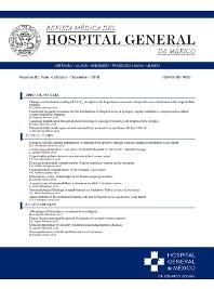 Cover image for Revista Médica del Hospital General de México