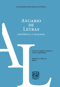 Cover image for Anuario de Letras
