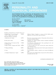 Personality and Individual Differences - ISSN 0191-8869
