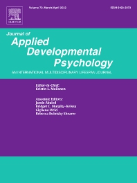 Journal of Applied Developmental Psychology - ISSN 0193-3973