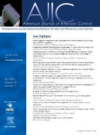 Cover image for American Journal of Infection Control