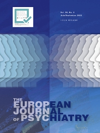 Cover image for The European Journal of Psychiatry