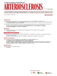 Clínica e Investigación en Arteriosclerosis - ISSN 0214-9168
