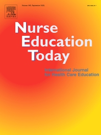 cover of Nurse Education Today