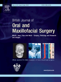Cover image for British Journal of Oral and Maxillofacial Surgery