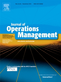 Cover image for Journal of Operations Management