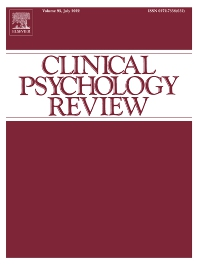 Cover image for Clinical Psychology Review