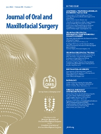 Cover image for Journal of Oral and Maxillofacial Surgery