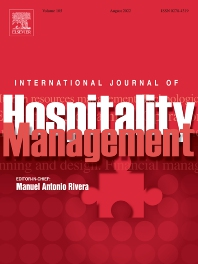 cover of International Journal of Hospitality Management
