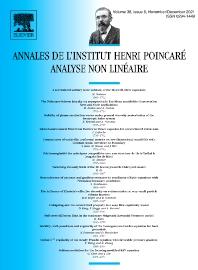 Annales de l'Institut Henri Poincaré C, Analyse Non Linéaire - ISSN 0294-1449