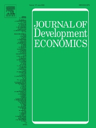 Cover image for Journal of Development Economics