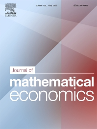 Journal of Mathematical Economics - ISSN 0304-4068