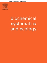 Biochemical Systematics and Ecology - ISSN 0305-1978