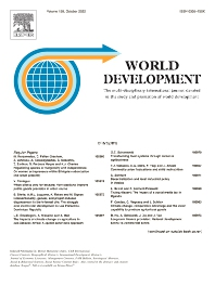 Cover image for World Development