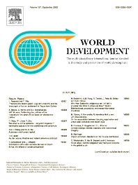 World Development - ISSN 0305-750X