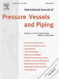Cover image for International Journal of Pressure Vessels and Piping