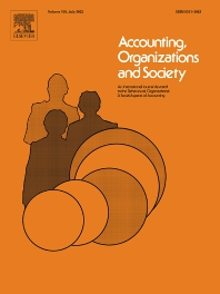 Accounting, Organizations and Society - ISSN 0361-3682
