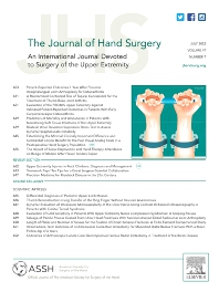 Cover image for The Journal of Hand Surgery