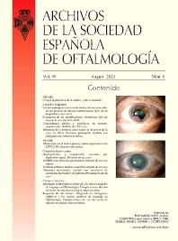 Cover image for Archivos de la Sociedad Española de Oftalmología