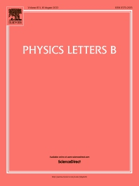 cover of Physics Letters B