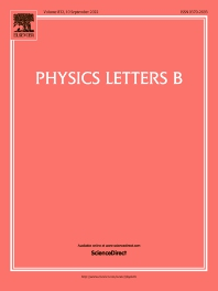Cover image for Physics Letters B