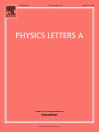 Cover image for Physics Letters A