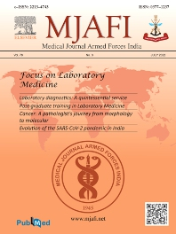 Cover image for Medical Journal Armed Forces India