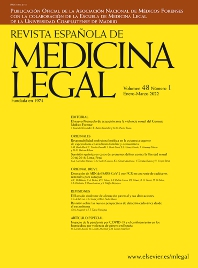 Cover image for Revista Española de Medicina Legal