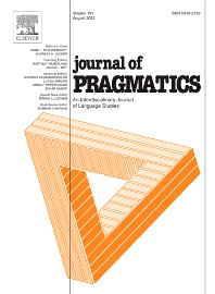 Journal of Pragmatics - ISSN 0378-2166