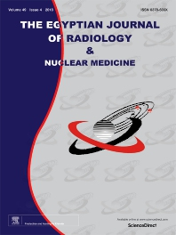 Cover image for The Egyptian Journal of Radiology and Nuclear Medicine