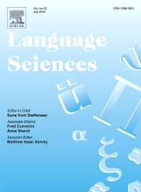 Cover image for Language Sciences