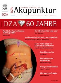 Cover image for Deutsche Zeitschrift für Akupunktur