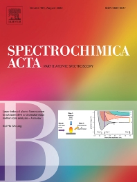 Cover image for Spectrochimica Acta Part B: Atomic Spectroscopy