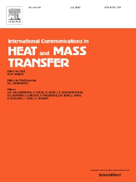 Cover image for International Communications in Heat and Mass Transfer