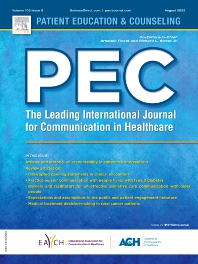 Cover image for Patient Education and Counseling