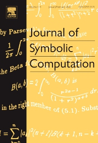 Journal of Symbolic Computation - ISSN 0747-7171