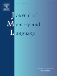 Journal of Memory and Language - ISSN 0749-596X