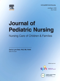 Cover image for Journal of Pediatric Nursing
