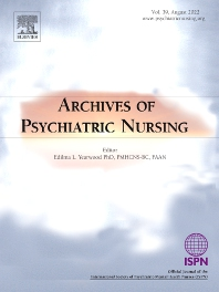 Cover image for Archives of Psychiatric Nursing