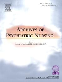 Archives Of Psychiatric Nursing Journal Elsevier