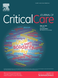 Cover image for Journal of Critical Care